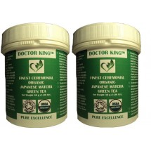 PACK OF 2 of DOCTOR KING® Finest Ceremonial Organic Japanese Matcha Green Tea (Ceremonial Grade A) - Net Weight 30g