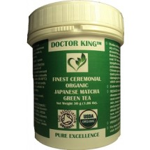 DOCTOR KING® Finest Ceremonial Grade Organic Japanese Matcha Green Tea (Top Grade: Ceremonial Grade A) - Net Weight 30g