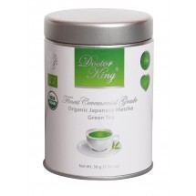 DOCTOR KING® Finest Ceremonial Grade Organic Japanese Matcha Green Tea - Finest Quality: Ceremonial Grade A - Net Weight 30g - Perfect for Making Matcha Tea & Other Beverages - Made in Japan