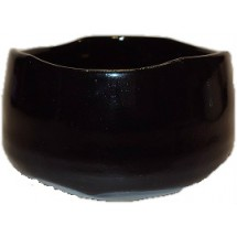 Japanese Chawan (Matcha Bowl) - Black (Glazed)
