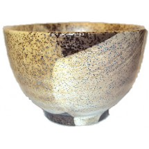 Japanese Chawan (Matcha Bowl) - Brown & White